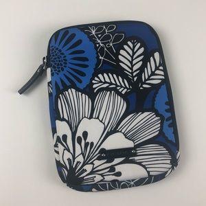 Vera Bradley travel case tablet iPad blue flowers